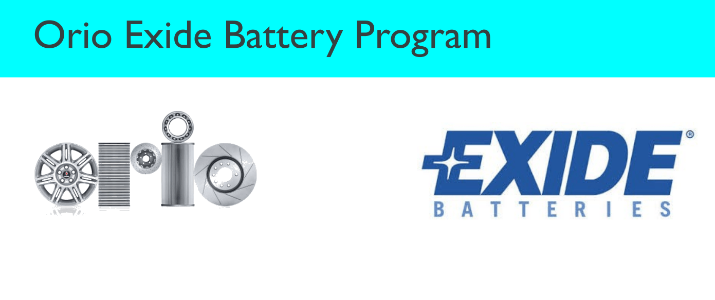 Orio Exide Battery Program