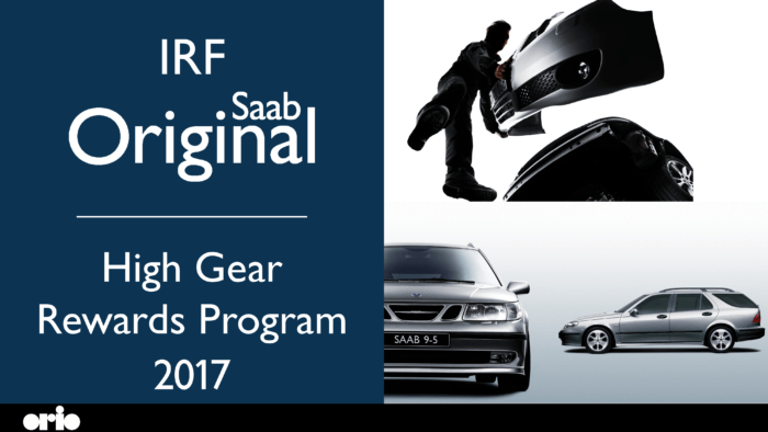 Saab Original 2017 IRF High Gear Rewards Program
